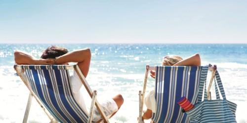Relaxen op strand (klein)